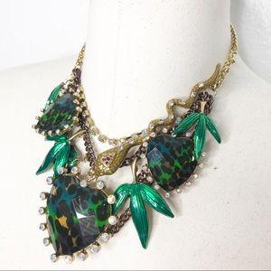 Betsey Johnson Jewelry - Betsey Johnson Asian Jungle Statement Necklace